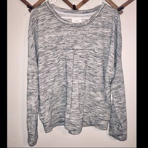 Lou and Grey Drop Shoulder Heathered Sweater